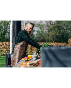 Return Leather BBQ Apron - Cognac